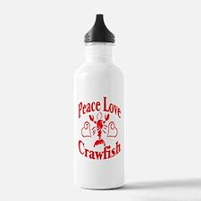 Peace Love Crawfish Water Bottle
