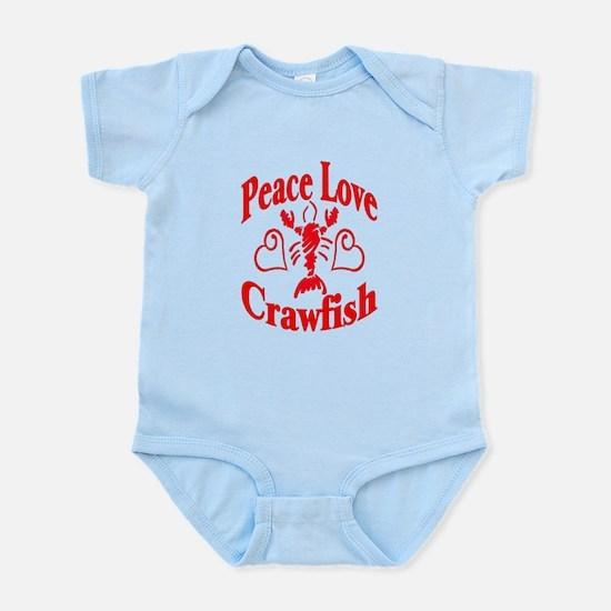 Peace Love Crawfish Infant Bodysuit