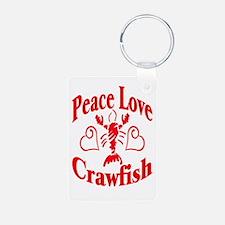 Peace Love Crawfish Keychains