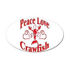 Peace Love Crawfish 22x14 Oval Wall Peel