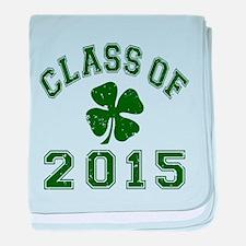Class Of 2015 Shamrock baby blanket