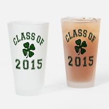 Class Of 2015 Shamrock Drinking Glass