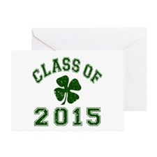 Class Of 2015 Shamrock Greeting Card