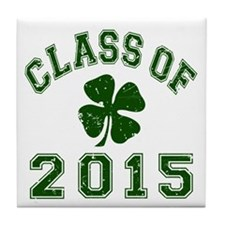 Class Of 2015 Shamrock Tile Coaster