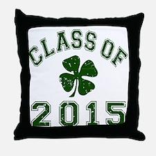 Class Of 2015 Shamrock Throw Pillow