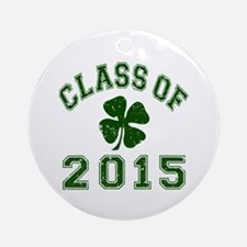 Class Of 2015 Shamrock Ornament (Round)