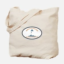 Martha's Vineyard MA - Oval Design. Tote Bag
