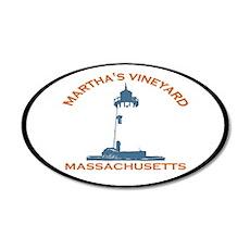Martha's Vineyard MA - Oval Design. 22x14 Oval Wal