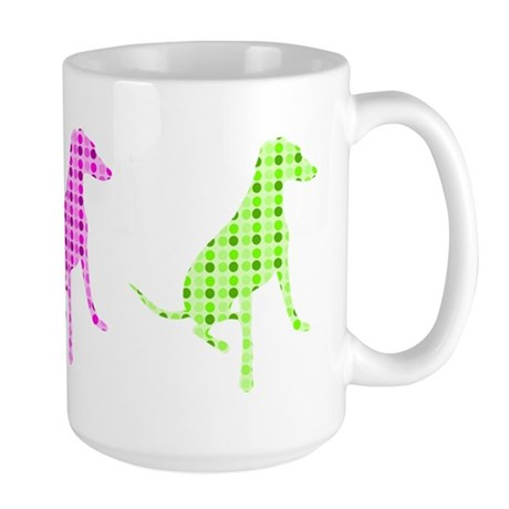 Polka Dot Hound Large Mug