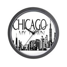 Chicago My Town Wall Clock