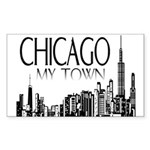 Chicago My Town Sticker (Rectangle 50 pk)
