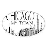 Chicago My Town Sticker (Oval)