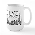Chicago My Town Large Mug