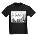 Chicago My Town Kids Dark T-Shirt