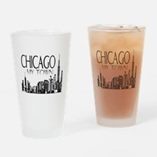 Chicago My Town Drinking Glass