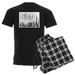 Chicago My Town Men's Dark Pajamas