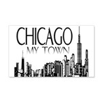 Chicago My Town 22x14 Wall Peel