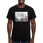Chicago My Town Men's Fitted T-Shirt (dark)