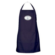 Martha's Vineyard MA - Oval Design. Apron (dark)