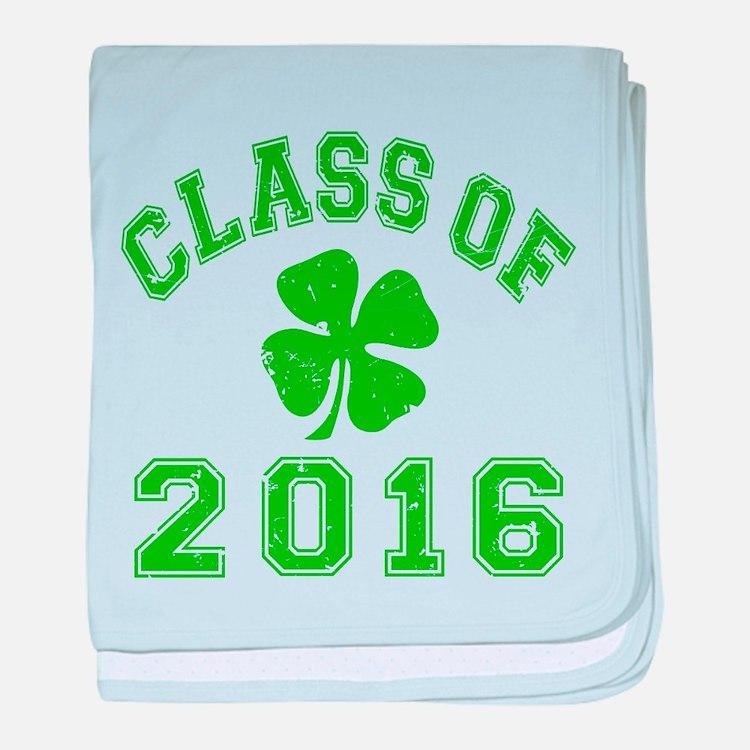 Class Of 2016 Shamrock baby blanket