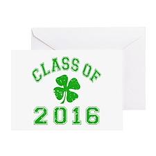 Class Of 2016 Shamrock Greeting Card