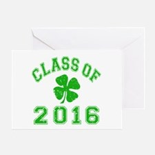 Class Of 2016 Shamrock Greeting Card