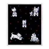 West highland white terrier Fleece Blankets