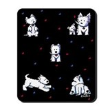 West highland white terrier Mouse Pads