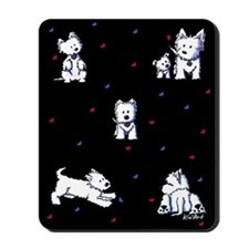 Block Party Westies Mousepad