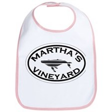 Martha's Vineyard MA - Oval Design. Bib