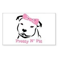 Pretty N' Pit Logowear Rectangle Decal