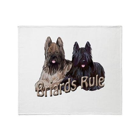 Briards Rule Throw Blanket
