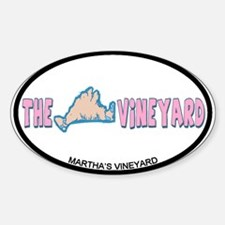 Martha's Vineyard MA - Oval Design. Decal