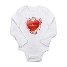Sylvia Valentines Long Sleeve Infant Bodysuit
