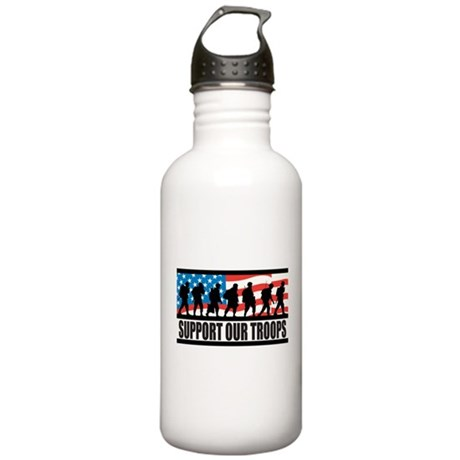 Support Our Troops Stainless Water Bottle 1.0L