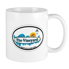 Martha's Vineyard MA - Oval Design. Mug