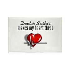 Doctor Bashir makes my heart throb Rectangle Magne