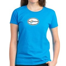 Martha's Vineyard MA - Oval Design. Tee
