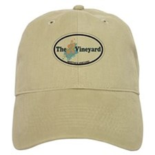 Martha's Vineyard MA - Oval Design. Baseball Cap