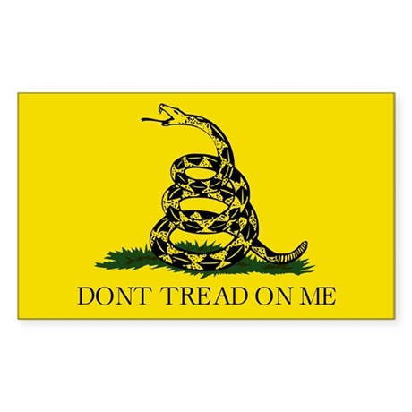 Gadsden Flag Sticker (Rectangle)