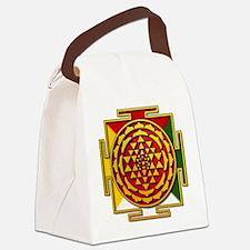 Sri Yantra Mandala Canvas Lunch Bag