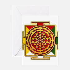 Sri Yantra Mandala Greeting Card