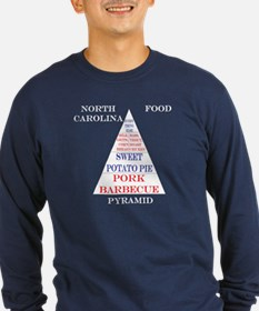 North Carolina Food Pyramid Long Sleeve Dark Tee