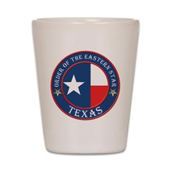 Texas Star OES Shot Glass