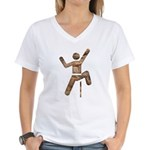 Rock Climber Women's V-Neck T-Shirt