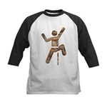 Rock Climber Kids Baseball Jersey