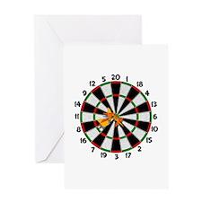 Dartboard Bullseye Greeting Card
