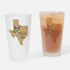 Texas OES Drinking Glass