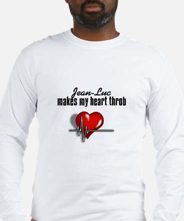 Jean-Luc makes my heart throb Long Sleeve T-Shirt