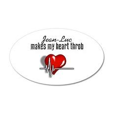 Jean-Luc makes my heart throb 22x14 Oval Wall Peel